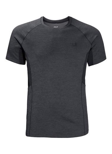 Jack Wolfskin Hydropore Xt Vent Erkek T-Shirt - 1806121-6116 Gri
